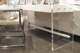 Office:Cool White Office Desk With Wide Acrylic Legs And Unique Modern  Chair Cool White