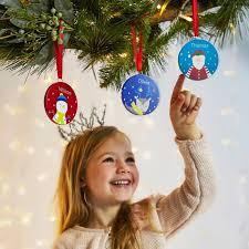 set of 3 personalised tree decorations