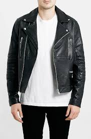 mens leather jackets image topman black leather biker jacket