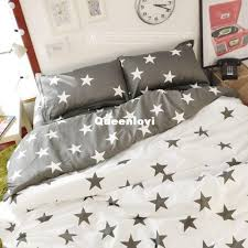 ikea style bedding sets gray star pattern cute bedding sets five