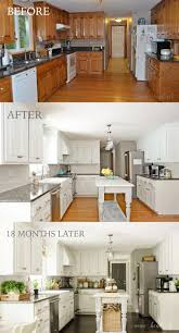 Simple Painting Oak Kitchen Cabinets White Painted Before After To Design Ideas