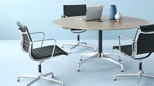 office round tables tables miller office table and chairs a round table surrounded by three aluminum office round tables