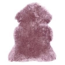 sheepskin mauve pink rug