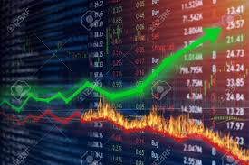 Profitable Candlestick Charting Llc Stock Market Investment Concept Gain And Profits With Candlestick