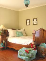 Witching Unisex Kids Bedroom Ideas With Brown Wooden Finished Twin Beds  Frame Be Equipped White Fabric ...
