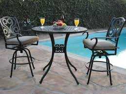 black wrought iron patio furniture. Image Of Heavenly Black Wrought Iron Patio Table With Short Stem Juice Glasses And Decorative Ceramic Furniture