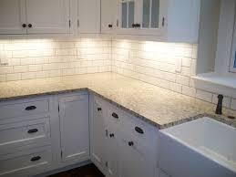 Subway Tile Floor Kitchen Shade Of White Subway Tile Backsplash With White Cabinets