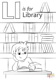 Unbelievable Design Library Coloring Page Letter L Is For Free