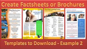 Make A Brochure Factsheet That Rocks Microsoft Word And