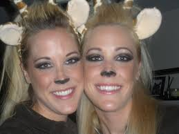 giraffe makeupyes makeup beautylish perning we added ears a teased hairdo and gloves with fur to finish off the look