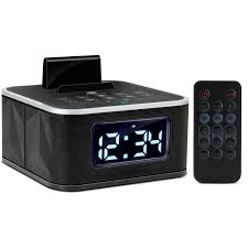 sylvania scr1986bt clock radio with bt auto set dual alarm clock and usb charging com