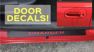 dodge charger vinyl door sill guards door decals fun easy mods