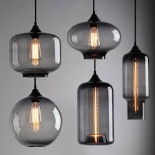 industrial modern lighting. INDUSTRIAL MODERN SILVER GREY GLASS SHADE CAFE LOFT PENDANT LIGHT CEILING LAMP | EBay Industrial Modern Lighting