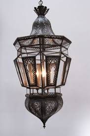 pair of moroccan vintage hanging glass light fixtures 2