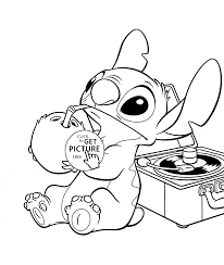 Funny Stitch Lilo And Stich Coloring Page For Kids Free Printable