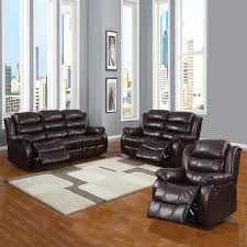 Living Room 3 Piece Sets Buxton Burgundy Polished Microfiber 3 Piece Reclining Living Room