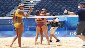 Women's beach volleyball: Latvian duo ...