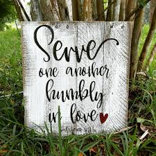 Image result for serve one another humbly in love