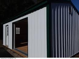 N 1224 Storage Shed With Garage Door