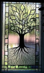 custom stained glass window inserts tree of life stained glass window i think i can do