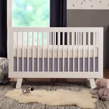 babyletto hudson in convertible crib with toddler rail  white