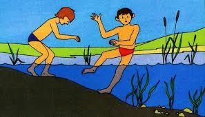 Картинки по запросу картинка купание на водоёмах