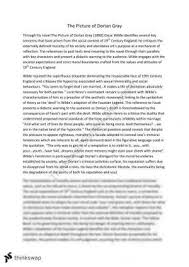 dorian gray extended essay year wace literature thinkswap the picture of dorian gray analytical essay