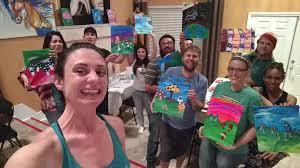 puff pass paint las vegas puff pass paint group photo las vegas puff pass paint customer painting bear jpg