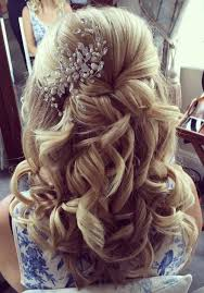 half up half down hairstyles wedding. half up down hairstyle with hair accessory hairstyles wedding