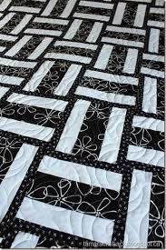 353 best A QUILT RAIL FENCE images on Pinterest   Quilting, Blue ... & 40 Easy Quilt Patterns For The Newbie Quilter. Black And White ... Adamdwight.com