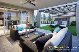 Enclosed Alfresco Designs Modern Patio Alfresco Design With Sunbaking Seating Area
