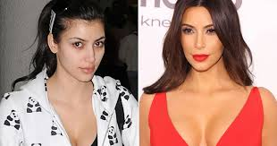 kim kardashian read vogue interview i don t recognise myself without makeup mirror