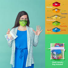 Crayola™ Teen/<b>Adult</b> Reusable Cloth <b>Face Mask</b> Set, Tip™ Faces ...