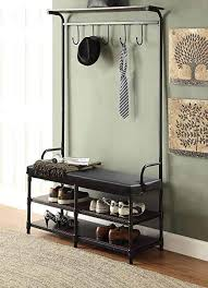 Black Coat Rack Bench