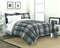 buffalo check bedding black and white twin the big one set