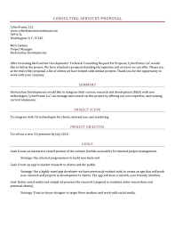 042 Informal Business Plan Template Consulting Proposal Best