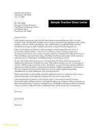 Sample Teacher Cover Letter For New Teachers Customer Service Cover