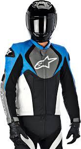 alpinestars jaws leather jacket blue grey black 52 3101013 740 52 com