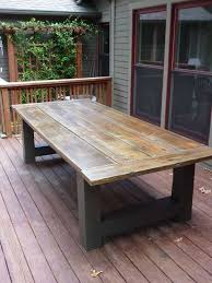20 best patio table plans design picnic table ideas concept of diy trestle table