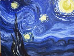 art project replicate a well known artist s work but incorporate a major change starry night by vincent van gogh trista style