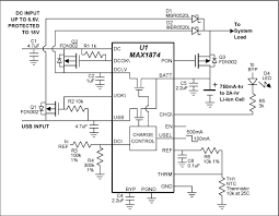 charging batteries using usb power reference schematic maxim sot 23 power mosfets add useful features such as over voltage