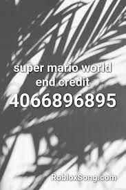 Killing me softly roblox id. Super Mario World End Credit Roblox Id Roblox Music Codes Roblox Super Mario World Hit The Quan