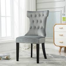 dining chairs contemporary. Set-of-2-Elegant-Tufted-Design-Fabric-Upholstered- Dining Chairs Contemporary 1