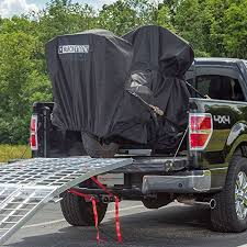 Black Widow Motorcycle Transport Truck Bed Trailer Hauling Kit with Fo