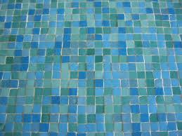 blue bathroom original mosaic countertop