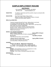 Sample Curriculum Vitae For Employment Free Samples Employment