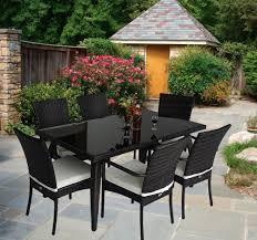 Rattan Garden Furniture Dining Set Patio Rectangular Table 6