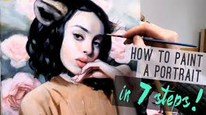 how to paint a portrait in 7 steps