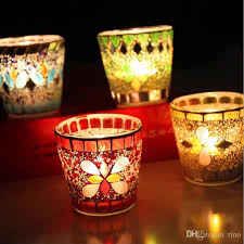 Glass Candle Holders Party Decoration Handmade Fashion Mosaic Weddings Candle  Holders For Home Bar Decoration Candle Holders Party Decoration Glass Candle  ...