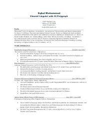 Pashto Linguist Resume Professional Resume Templates